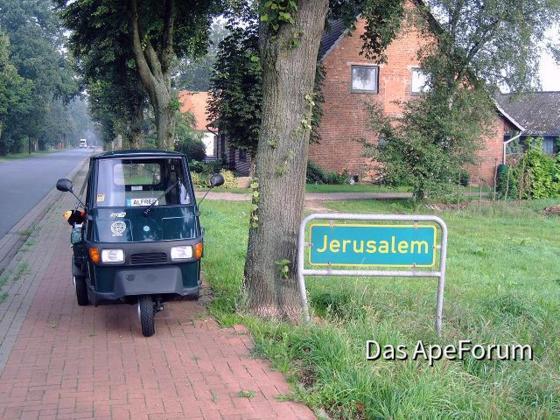 Fahrt nach Dorum über Jerusalem, war ganz schön weit die Reise.