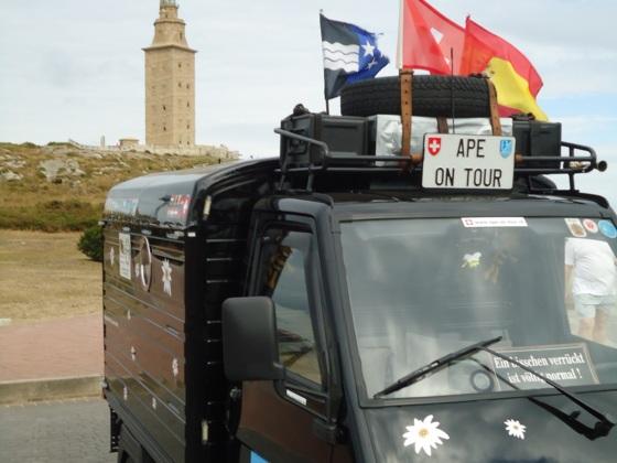 Herkulesturm Torre de Hércules,  A Coruña, Spanien, 13.07.2015
